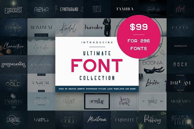 Ultimate Font Collection 21 - Post