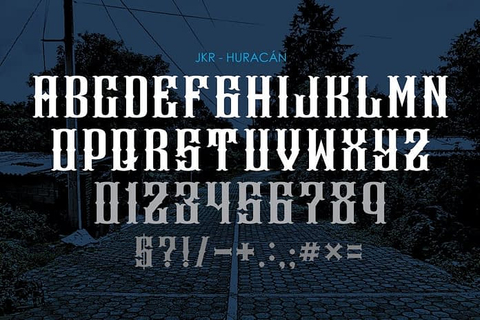 HURACÁN Font Family Free Download 2 - Post