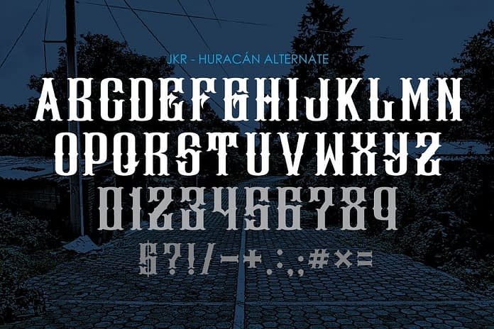 HURACÁN Font Family Free Download 3 - Post