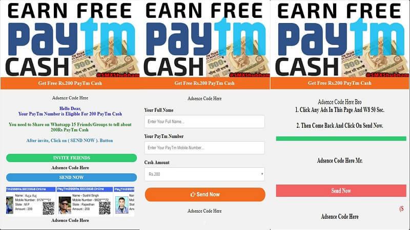 Paytm earning Script